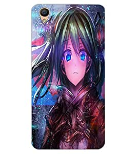 ColourCraft Beautiful Girl Design Back Case Cover for OPPO R9