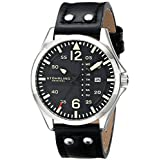 Stuhrling Original Men's 699.01 Aviator Quartz Day and Date Black Watch