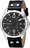 Stuhrling Original Men's 699.01 Aviator Quartz Day and Date Black Watch