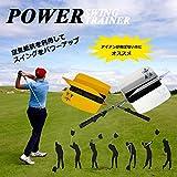 [Present-web] ゴルフ スイング 矯正 空気抵抗 アイアン 飛距離 アップ 羽根 練習 用品 パワー パワフル ヘッド スピード 負荷 【ホワイト】