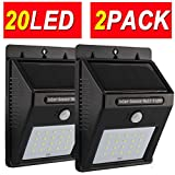4MODE 20LED 2PACK Upgraded Super Bright Sogrand Solar Motion Sensor Light Weatherproof Outdoor Solar Lights Outdoor Wireless Solar Motion Security Light Metal Detector