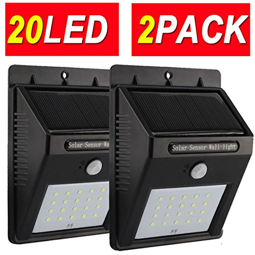 4MODE 20LED 2PACK Upgraded Super Bright Sogrand Solar Motion Sensor Light Weatherproof Outdoor Solar Lights Outdoor Wireless Solar Motion Security Light Metal Detector (Motion Detector Lights Outdoor compare prices)