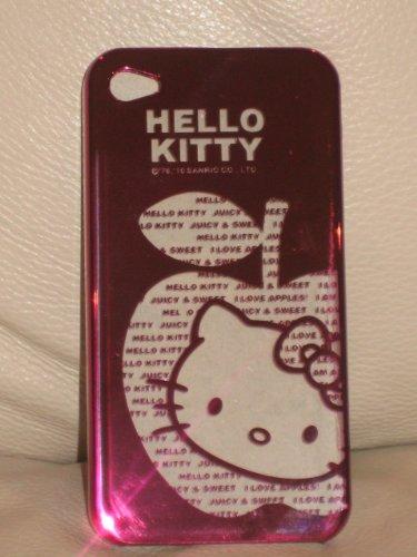 Ezmarket Hello Kitty Shiny See Through Purple Case for Iphone 4