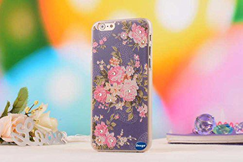 Iphone 6 4.7 Ultra Thin Case,Nancy'S Shop Colorful Painting Luxury 3D Bling Hard Phone Accessories Case And Covers For Apple Iphone 6 4.7 Inch Screen (Blue Flower Nancy'S Shop Case Cover)