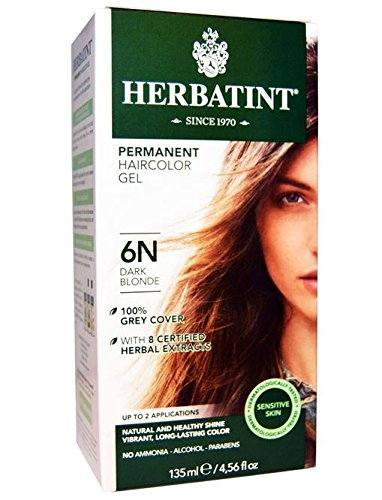 Herbatint Permanent Herbal Haircolour Gel, Dark Blonde, 4.56 Ounce (Natural Hair Dye compare prices)