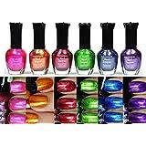 Kleancolor Metallic Nail Lacquer 6 Colors Set
