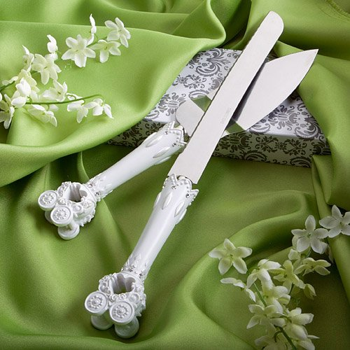 Wedding Favor: Fairy Tale Coach Design Cake Knife - Server Set From Fashioncraft's Finishing Touches Collection