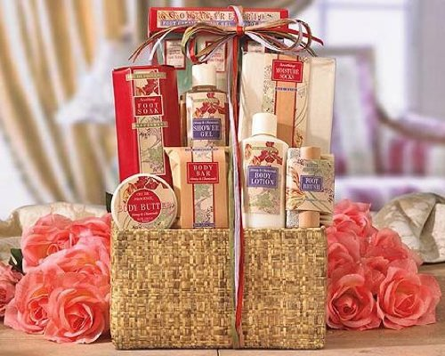 Send Fresh Cut Flowers - Spa EssentialsMixed Gift Basket