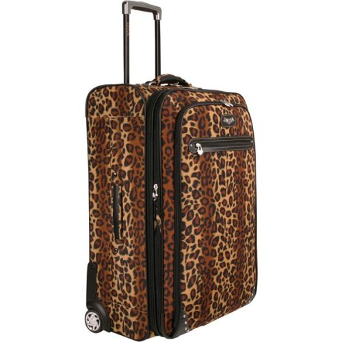 Buy Kathy Van Zeeland Travelware Catwalk Leopard Print 29″ Expandable Wheeled Upright