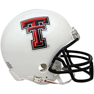 NCAA Riddell Texas Tech Red Raiders Mini Replica Football Helmet - White
