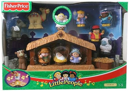 Zhu Hamster Little People Deluxe Christmas Story Nativity Plays