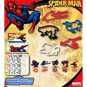Marvel Spiderman Logo Bandz Silly Rubber Bands 20PK