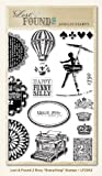 My Mind's Eye - Lost and Found 2 Collection - Rosy - Clear Acrylic Stamps - Everything