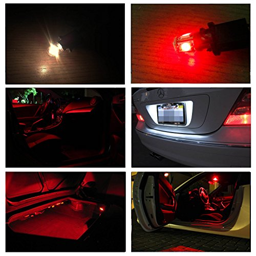 Ledpartsnow Jeep Wrangler Jk Red Premium Led Interior Lights Package Kit