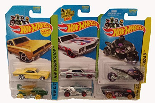 Hot Wheels, Die-Cast Vehicle Bundle of 6 [Styles May Vary]