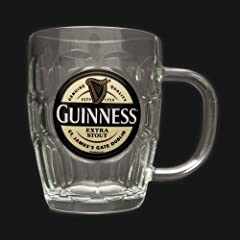 Guinness Yellow Label Glass Tankard