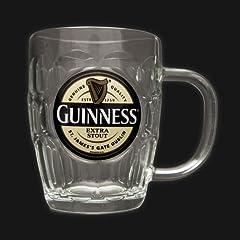 Guinness Yellow Label Glass Tankard
