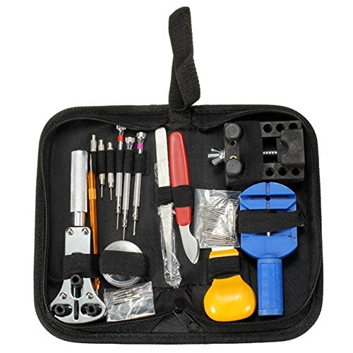 Watch Repair Tools, TIGER - KEY 147 PCS Professional Grade Watch Repair Kit - CASE OPENER LINK REMOVER SPRING BAR TOOL CARRY CASE (Watch Link Remover Kit With Case compare prices)