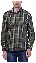 PRIknit Men's Casual Shirt (AF-S3-GY, Grey, 44)