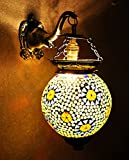 Traditional Handmade Wall Sconces Glass Tiffany Wall Lamp 13 X 9 Inches