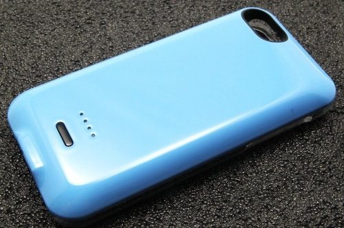 Stylish Large Capacity 2800mah Blue Mobile Power Bank for iPhone 5C by TB1 Products ®