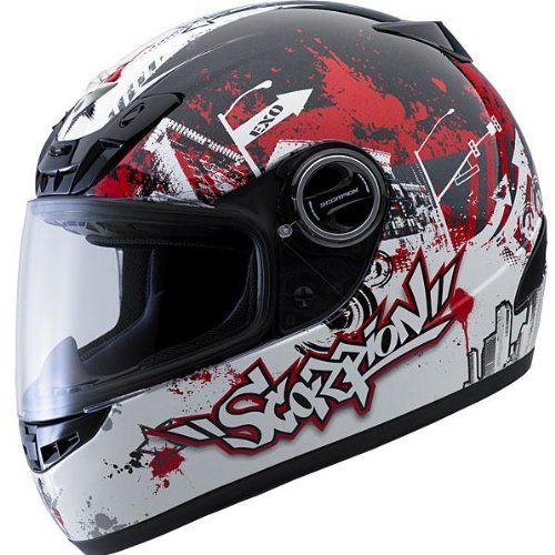 Scorpion EXO-400 Urban Destroyer Red X-Small Full Face Helmet