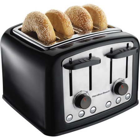 Hamilton Beach SmartToast 4-Slice Toaster, Bagel, cancel and defrost buttons (Hamilton Beach Toaster Oven Parts compare prices)