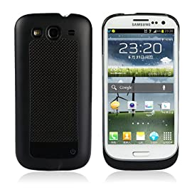 KHOMO: External Portable Battery Case New Samsung Galaxy S3 III (AT&T, T-Mobile, Sprint, Verizon)