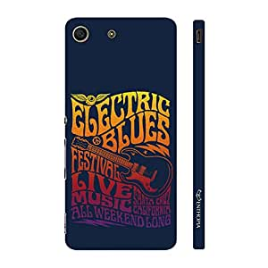 Enthopia Designer Hardshell Case Electric Guitar Blues Back Cover for Sony Xperia M5