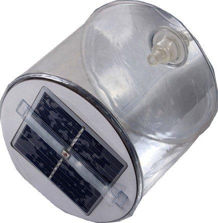 超コンパクト 折りたたみ ソーラー LED ランタン アウトドア 災害 などに 使わないときはぺったんこ (白)
