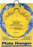 Invisible English Disc Adhesive Plate Hanger Set (2 - 3 Inch and 2 - 4 Inch Hangers) by The Disc Plate Hanger Company