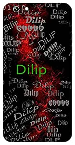 Dilip (King, Ancestor Of Lord Rama) Name & Sign Printed All over customize & Personalized!! Protective back cover for your Smart Phone : Samsung Galaxy A-5