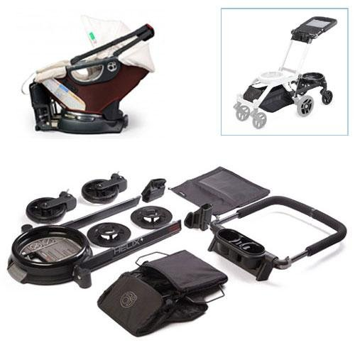 Orbit Baby Helix Plus Stroller Travel Upgrade Kit with Infant Car Seat in Mocha Khaki