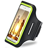 iBenzer Premium Water Resistant Exercise Armband with Key & ID Card Holder For iPhone 6, 6S and 4.7 Inch Screen Phone Reflective Strip Green US-AB0147GN