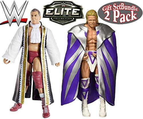 WWE Elite Collection Lord Steven Regal & Narcissist Lex Luger Wrestling Figures Gift Set Bundle - 2 Pack