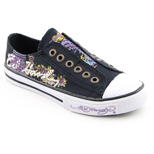 ED HARDY 11FSA101W Starlight Sneakers Shoes Black