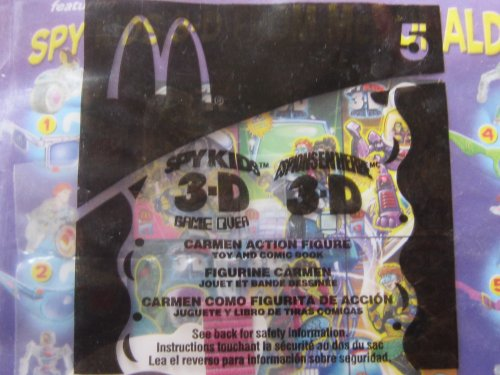 McDonalds 2003 Spy Kids 3-D Game Over #5 Carmen Action Figure