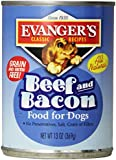 EVANGER'S 776486 12-Pack Natural Classic Beef and Bacon Supplement for Dogs, 13-Ounce