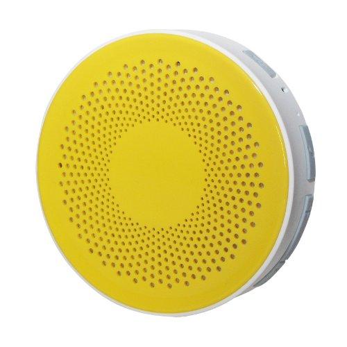 Bluetooth 防水 ワイヤレス オーディオ スピーカー イエロー/ホワイト お風呂 バス シャワー対応 [Bluetooth3.0][IPX4] iphone スマホ 対応 Hanwha  HS-BWS001-Y
