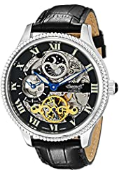 "Ingersoll Men's IN2713BK ""Ulzana"" Stainless Steel Automatic Watch with Black Leather Band"