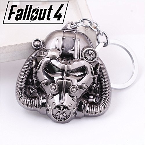 Fallout 4 Vault Boy Mask 3D Zinc Key Chain by Maggie's Gift by Maggie's Gift