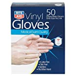 Rite Aid Gloves, Vinyl, Disposable, One Size Fits Most, 50 ea