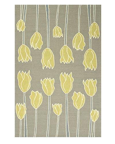 Jaipur Rugs Indoor/Outdoor Durable Rug, Gray/Yellow, 2' x 3'