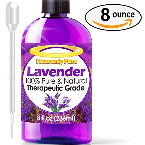 Heavenly Pure Therapeutic Grade Lavender Oil - 8 oz (Lavender Essential Oil 16 Oz compare prices)