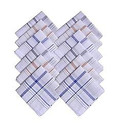 Handkerchief for Mens White Rumal (12pc Pack) 41x41 Cm - By XYZ Textiles