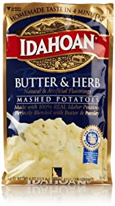 Idahoan Mashed Potatoes, Butter & Herb, 4 Oz