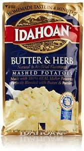 Idahoan Mashed Potatoes, Butter & Herb, 4 Oz