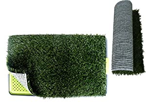 "Pet Potty Dog Trainning Pad Park Patch Mat Indoor 27"" X 17"" X 3"" with a Replacement Grass Mat"
