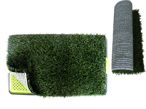 """Pet Potty Dog Trainning Pad Park Patch Mat Indoor 27"""" X 17"""" X 3"""" With A Replacement Grass Mat front-12990"""