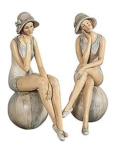 Resin Style Bathing Beauties SET OF 2 Style Vintage Design ...